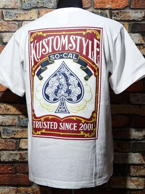 kustomstyle カスタムスタイル Tシャツ 20th ANIV. REPRINT SERIES (KST1205WH) guadalupe playing card カラー:ホワイト
