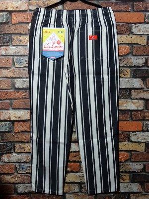 Cookman クックマン Chef Pants シェフパンツ ルーズフィット イージーパンツ (Awning Stripe) コックパンツ カラー:ブラック