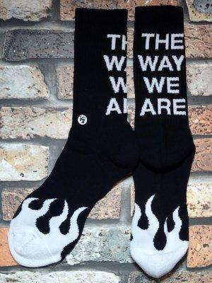 kustomstyle カスタムスタイル オリジナル ソックス (KSSOX-012BK) the way we are socks カラー:ブラック