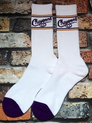 kustomstyle-Cheyenne シャイアン オリジナル ソックス (CHSOX-001WH) cheyenne icon socks カラー:ホワイト