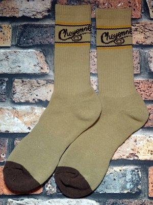 kustomstyle-Cheyenne シャイアン オリジナル ソックス (CHSOX-001BE) cheyenne icon socks カラー:ベージュ