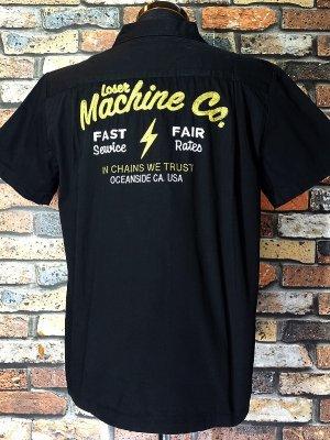 LoserMachine ルーザーマシーン 半袖ワークシャツ(PUERTO SHIRT) カラー:ブラック