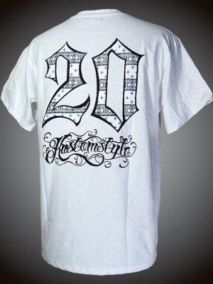 kustomstyle カスタムスタイル Tシャツ (KST2110WH) 20th bandana20th bandana emb カラー:ホワイト