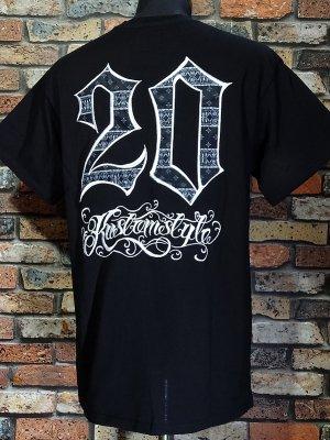 kustomstyle カスタムスタイル Tシャツ (KST2110BK) 20th bandana20th bandana emb カラー:ブラック