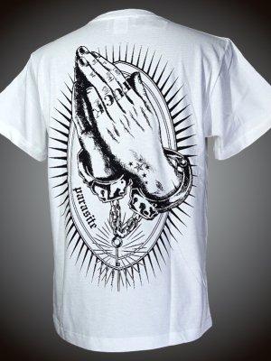 parasite パラサイト Tシャツ (NEW PRAYER)  カラー:ホワイト×ブラック