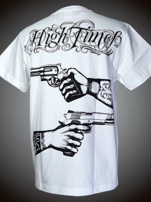 parasite パラサイト Tシャツ (HIGH TIMES)  カラー:ホワイト×ブラック