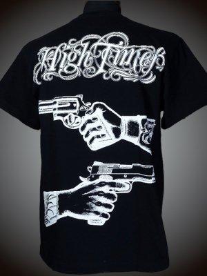 parasite パラサイト Tシャツ (HIGH TIMES)  カラー:ブラック×ホワイト