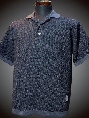 RealMinority リアルマイノリティー ニットポロ オープンカラーシャツ(company) カラー:ダークグレー