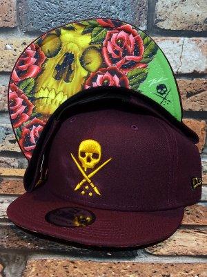 sullen clothing サレンクロージング スナップバックキャップ (PEEK THRU) new era 9fifty snap back cap カラー:バーガンディー