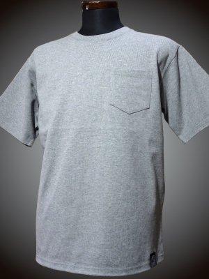 RealMinority リアルマイノリティー 10.2oz tough body ポケット付き無地Tシャツ (standard) カラー:グレー