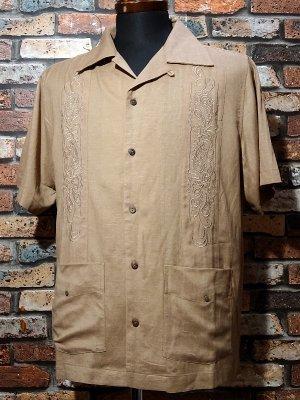kustomstyle カスタムスタイル 半袖キューバシャツ (KSSS2107BE) longroof guayabera short sleve shirts  カラー:ベージュ