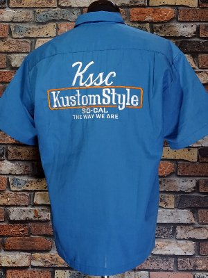 kustomstyle カスタムスタイル 半袖ワークシャツ (KSSWS2102BL) the way we are short sleve work shirts  カラー:ブルー