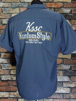 kustomstyle カスタムスタイル 半袖ワークシャツ (KSSWS2102CH) the way we are short sleve work shirts  カラー:チャコールグレー