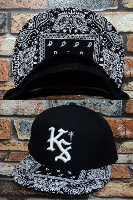 kustomstyle カスタムスタイル  スナップバックキャップ (KSCP1807BKPAI) lock city bandana snapback cap カラー:ブラック