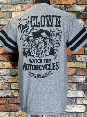 LoserMachine ルーザーマシーン Tシャツ (DON'T CLOWN) カラー:グレー