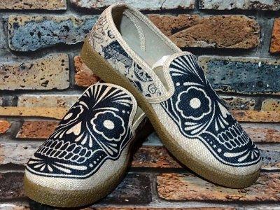 KingstonUnion × MikeGiant シューズ (THE WINO SLIP ON - MIKE GIANT) slip on shoes カラー:アイボリーxガム