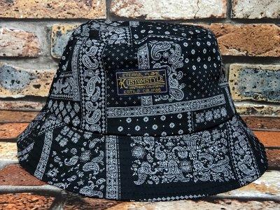 kustomstyle カスタムスタイル バケットハット(KSBH1901BABK) eternal flame bandana bucket hat カラー:ブラック