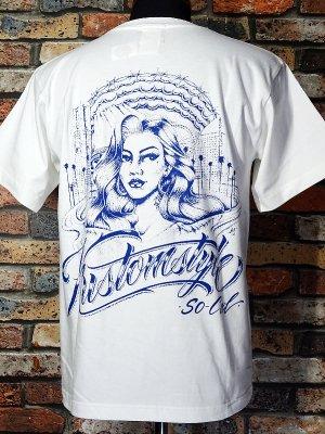 kustomstyle カスタムスタイル Tシャツ (KST2113WH) hood カラー:ホワイト