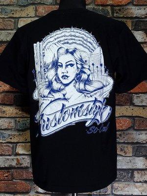 kustomstyle カスタムスタイル Tシャツ (KST2113BK) hood カラー:ブラック