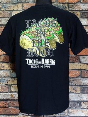 kustomstyle-Cheyenne シャイアン Tシャツ (CHT2004BK) -tacos del barrio- tacos in the hood カラー:ブラック
