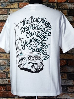 kustomstyle-Cheyenne シャイアン Tシャツ (CHTPO2102WH) groovy´s ice pops pocket T-shirts カラー:ホワイト