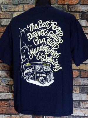 kustomstyle-Cheyenne シャイアン Tシャツ (CHTPO2102NY) groovy´s ice pops pocket T-shirts カラー:ネイビー