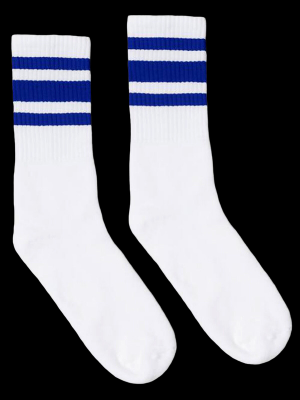 SOCCO SOCKS  ソッコ ソックス CREW SOCKS  (スネ丈) Striped Socks カラー:Royal