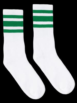SOCCO SOCKS  ソッコ ソックス CREW SOCKS  (スネ丈) Striped Socks カラー:Green