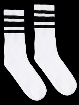 SOCCO SOCKS  ソッコ ソックス CREW SOCKS  (スネ丈) Striped Socks カラー:Black
