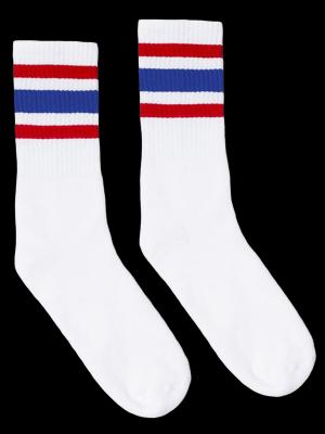 SOCCO SOCKS  ソッコ ソックス CREW SOCKS  (スネ丈) Striped Socks カラー:All American