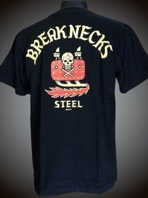 steel-hot rod wear スティール Tシャツ (STL-C001) widerange design カラー:ブラック