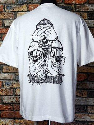 RealMinority リアルマイノリティー  Tシャツ (3CLOWN-021) Loose fit T-shirt カラー:ホワイト