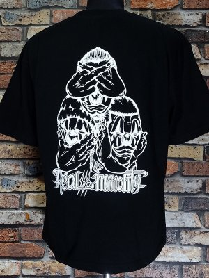 RealMinority リアルマイノリティー  Tシャツ (3CLOWN-021) Loose fit T-shirt カラー:ブラック
