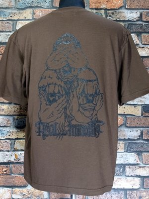 RealMinority リアルマイノリティー  Tシャツ (3CLOWN-021) Loose fit T-shirt カラー:ダークブラウン