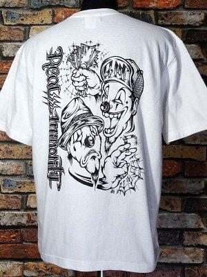RealMinority リアルマイノリティー  Tシャツ (TWOFACE-021) Loose fit T-shirt カラー:ホワイト