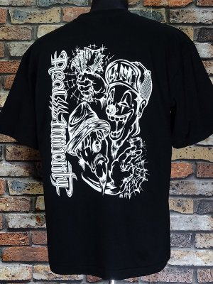 RealMinority リアルマイノリティー  Tシャツ (TWOFACE-021) Loose fit T-shirt カラー:ブラック