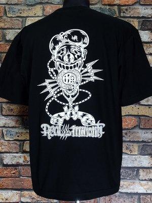 RealMinority リアルマイノリティー  Tシャツ (communication-021) Loose fit T-shirt カラー:ブラック