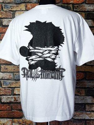 RealMinority リアルマイノリティー  Tシャツ (CLOWN silhouette-021) Loose fit T-shirt カラー:ホワイト