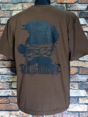 RealMinority リアルマイノリティー  Tシャツ (CLOWN silhouette-021) Loose fit T-shirt カラー:ダークブラウン