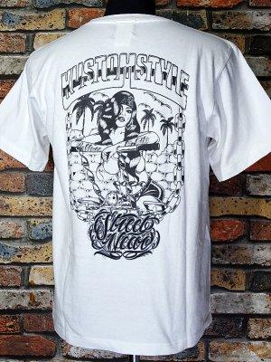 kustomstyle カスタムスタイル Tシャツ (KST2111WH) rollerz only  カラー:ホワイト