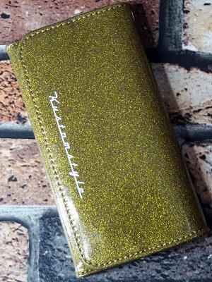 kustomstyle カスタムスタイル ウォレット 財布 (TRI-FIVE GO) metal flake wallet カラー:ゴールド
