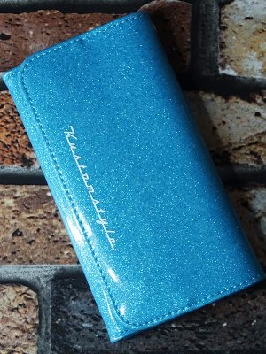 kustomstyle カスタムスタイル ウォレット 財布 (TRI-FIVE BL) metal flake wallet カラー:ブルー