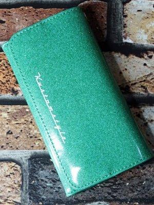 kustomstyle カスタムスタイル ウォレット 財布 (TRI-FIVE GR) metal flake wallet カラー:グリーン