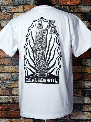 RealMinority リアルマイノリティー  Tシャツ (Themis) 7.4oz Heavyweight T-shirt カラー:ホワイト