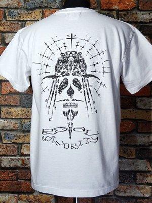 RealMinority リアルマイノリティー  Tシャツ (Paisley-Face) 7.4oz Heavyweight T-shirt カラー:ホワイト
