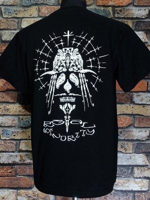 RealMinority リアルマイノリティー  Tシャツ (Paisley-Face) 7.4oz Heavyweight T-shirt カラー:ブラック
