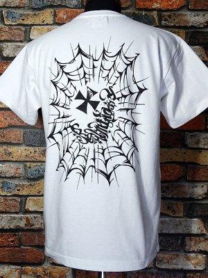 RealMinority リアルマイノリティー  Tシャツ (spiderweb) 7.4oz Heavyweight T-shirt カラー:ホワイト