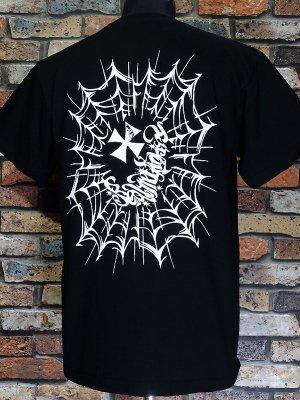 RealMinority リアルマイノリティー  Tシャツ (spiderweb) 7.4oz Heavyweight T-shirt カラー:ブラック