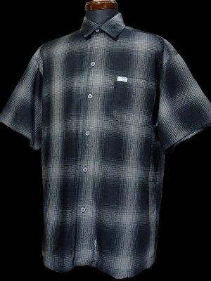 CalTop  キャルトップ 半袖チェックシャツ FL PLAID SHORT SHIRT カラー:ブラック/チャコール