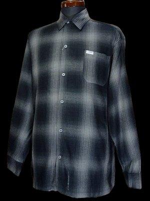 CalTop  キャルトップ 長袖チェックシャツ FL PLAID LONG SHIRT カラー:ブラック/チャコール